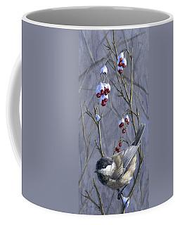 Winter Harvest 2 Chickadee Painting Coffee Mug