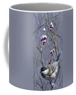 Winter Harvest 2 Chickadee Painting Coffee Mug