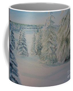 Coffee Mug featuring the painting Winter In Gyllbergen by Martin Howard