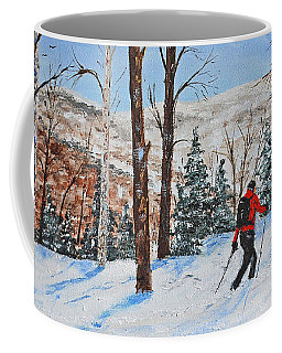 Winter In Vermont Woods Coffee Mug