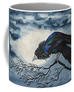 Coffee Mug featuring the painting Winter Is Coming by Diane DeSavoy