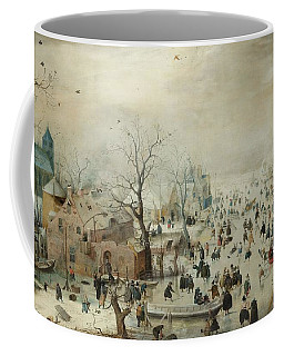 Winter Landscape With Skaters Coffee Mug