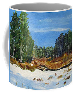 Winter Marsh In Hooksett Coffee Mug