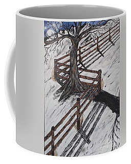 Winter Moon Shadow Coffee Mug by Jeffrey Koss