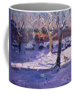 Winter Morning In My Courtyard Coffee Mug