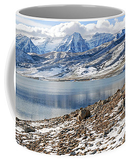 Winter Mt. Timpanogos And Deer Creek Reservoir Coffee Mug