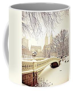 New York Snow Photographs Coffee Mugs