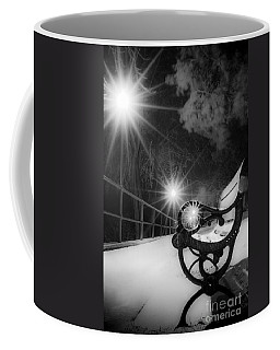 Winter Night Along The River Coffee Mug
