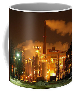 Winter Night At Sunila Pulp Mill Coffee Mug