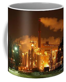 Winter Night At Sunila Pulp Mill Coffee Mug