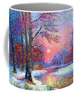 Winter Nightfall, Snow Scene  Coffee Mug
