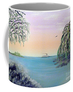 Winter On Lake Ponchartrain Coffee Mug by Alys Caviness-Gober
