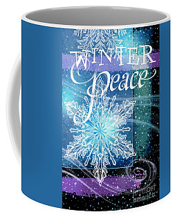 Winter Peace Greeting Coffee Mug