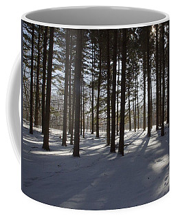 Coffee Mug featuring the photograph Winter Pines by Daniel Sheldon