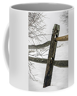 Winter Rail Fence Coffee Mug