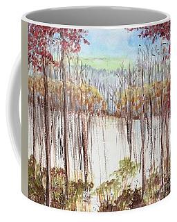 Winter Scene Tracks Coffee Mug by Christina Verdgeline