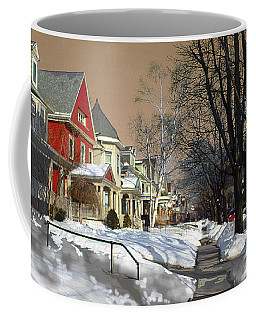 Coffee Mug featuring the pyrography Winter Scenery  by Viola El