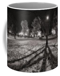 Winter Shadows And Xmas Lights Coffee Mug