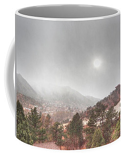 Winter Storm In Summer With Sun Coffee Mug by Lanita Williams