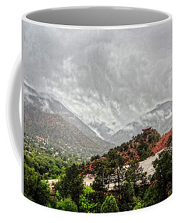 Coffee Mug featuring the photograph Winter Storm On A Summer Day by Lanita Williams