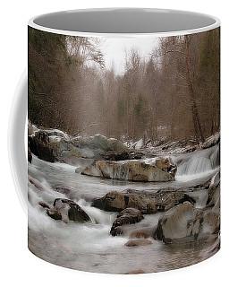 Coffee Mug featuring the photograph Winter Stream by Geraldine DeBoer