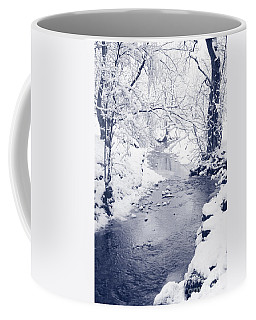 Coffee Mug featuring the photograph Winter Stream by Liz Leyden