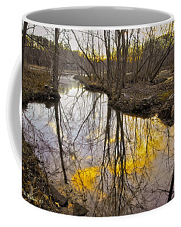Coffee Mug featuring the photograph Winter Sunset At Williston Mill by Brian Wallace