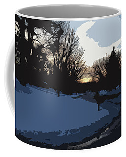 Coffee Mug featuring the digital art Winter Sunset by Kirt Tisdale