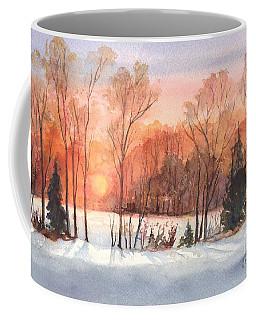 A Hedgerow Sunset Coffee Mug
