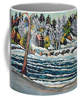 Winter Thaw Gatineau River Coffee Mug