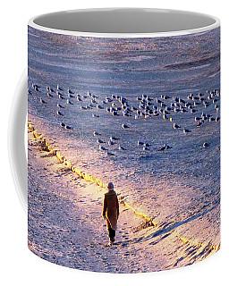 Coffee Mug featuring the photograph Winter Time At The Beach by Cynthia Guinn