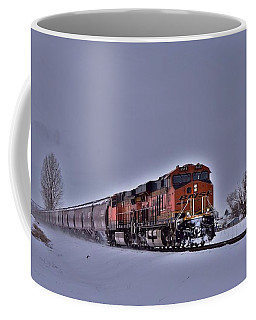 Coffee Mug featuring the photograph Winter Train by Lynn Hopwood