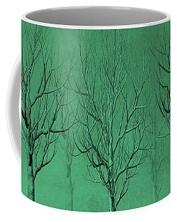 Winter Trees In The Mist Coffee Mug
