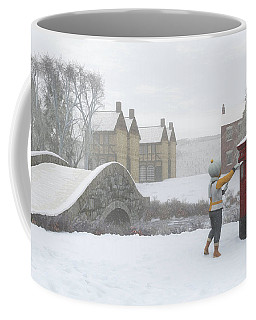 Winter Village With Postbox Coffee Mug