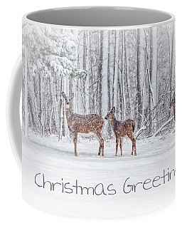 Winter Visits Card Coffee Mug