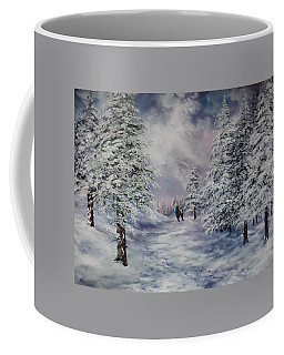 Coffee Mug featuring the painting Winter Walk On Cannock Chase by Jean Walker