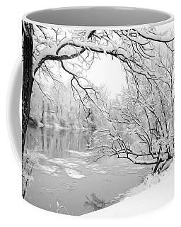 Winter Wonderland In Black And White Coffee Mug