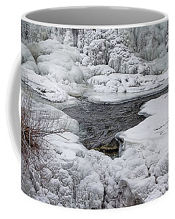 Coffee Mug featuring the photograph Vermillion Falls Winter Wonderland by Patti Deters