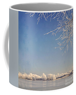 Winter Wonderland With Snowflakes Decoration. Coffee Mug