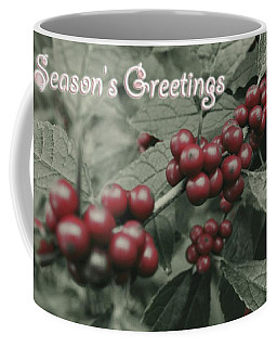 Coffee Mug featuring the photograph Winterberry Greetings by Photographic Arts And Design Studio