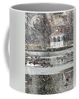 Wintering Geese On Silver Lake Coffee Mug