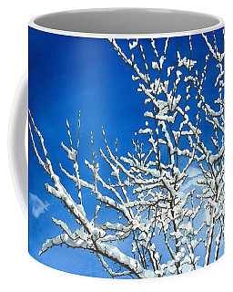 Coffee Mug featuring the painting Winter's Artistry by Barbara Jewell