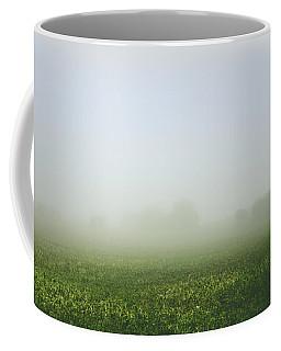 Winters Foggy Morning Across The Farmers Field Coffee Mug