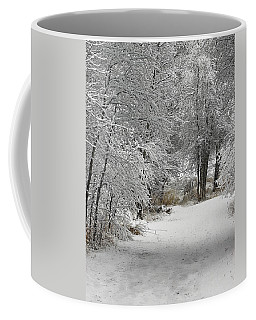 Coffee Mug featuring the photograph Winter's Kiss by Don Schwartz