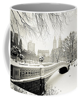 Winter's Touch - Bow Bridge - Central Park - New York City Coffee Mug