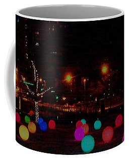 Coffee Mug featuring the photograph A Wintery Night At City Garden by Kelly Awad