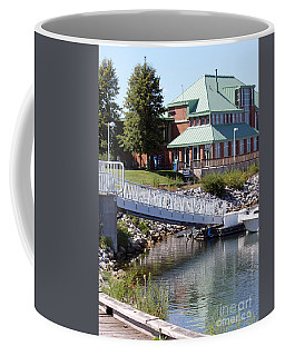 Coffee Mug featuring the photograph Winthrop Harbor Shore by Debbie Hart