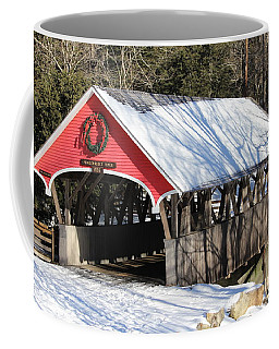 Wintry Flume Covered Bridge Coffee Mug