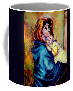 Mondonna Of The Street By Roberto Ferrizzi, Rendition In Pastel Antonia Citrino,  Sold.        Coffee Mug