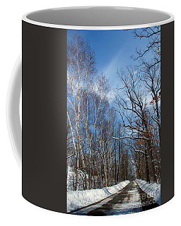 Wisconsin Winter Road Coffee Mug